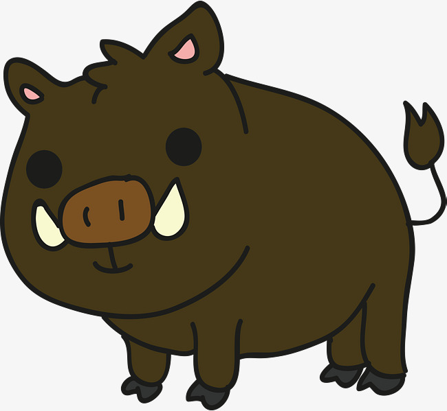 650x599 Cartoon Wild Boar, Wild Boar, Field, Cartoon Png And Vector