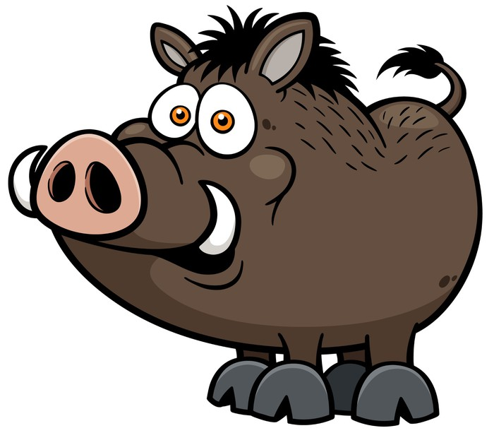 700x613 Vector Illustration Of Wild Boar Sticker We Live To Change