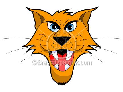 432x324 Cartoon Wildcat Clip Art Wildcat Graphics Clipart Wildcat Icon