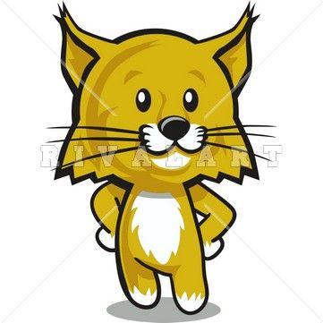 361x361 Clipart Image Of A Wildcat Cub Graphic Wildcat Clipart