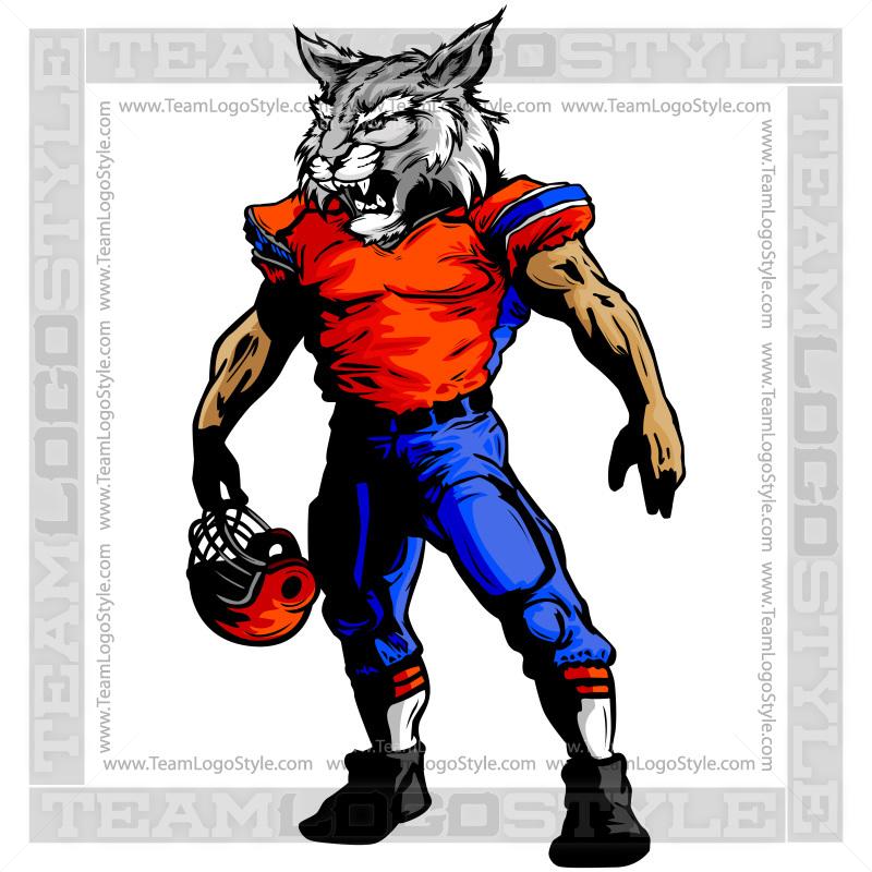 800x800 Football Wildcat Mascot