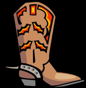 291x298 Wild West Clipart Cowboy Boot