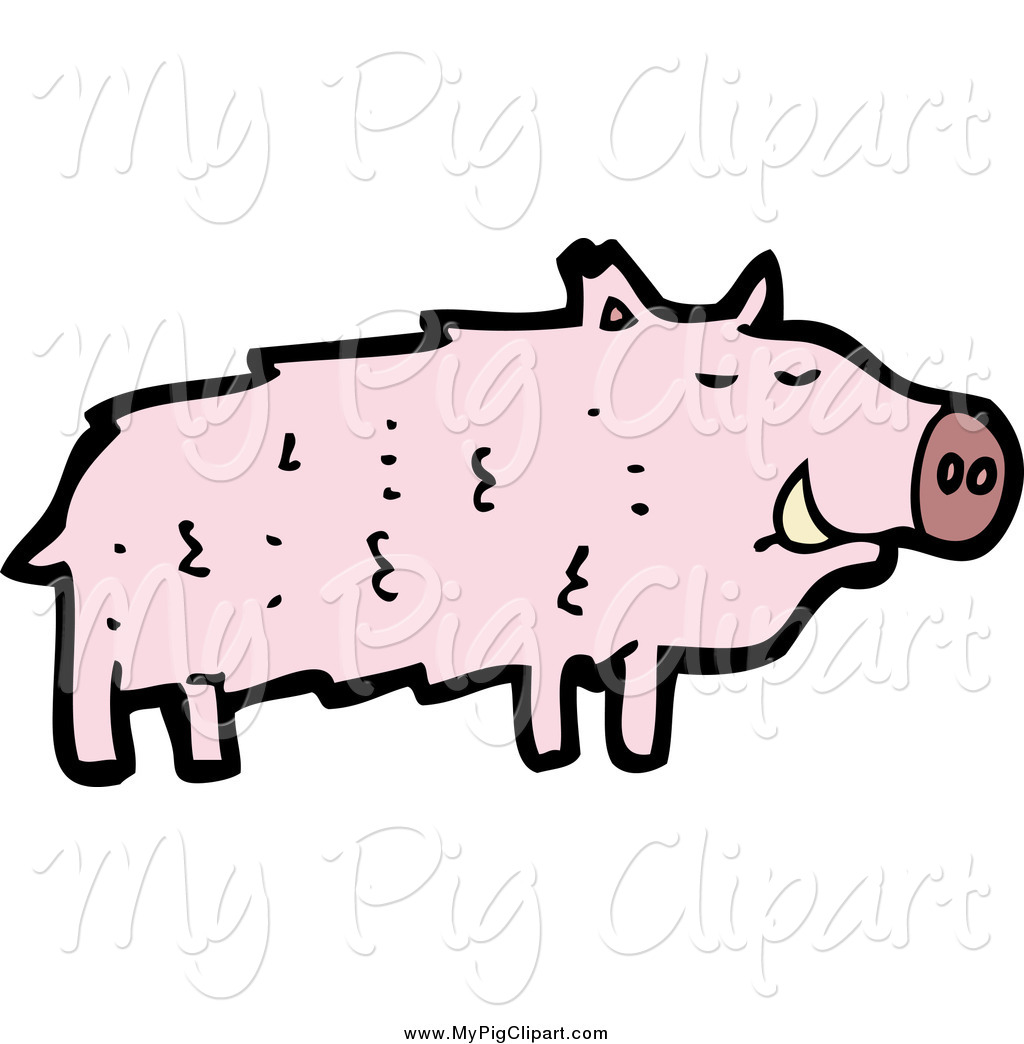1024x1044 Swine Clipart Of A Pink Boar Pig By Lineartestpilot