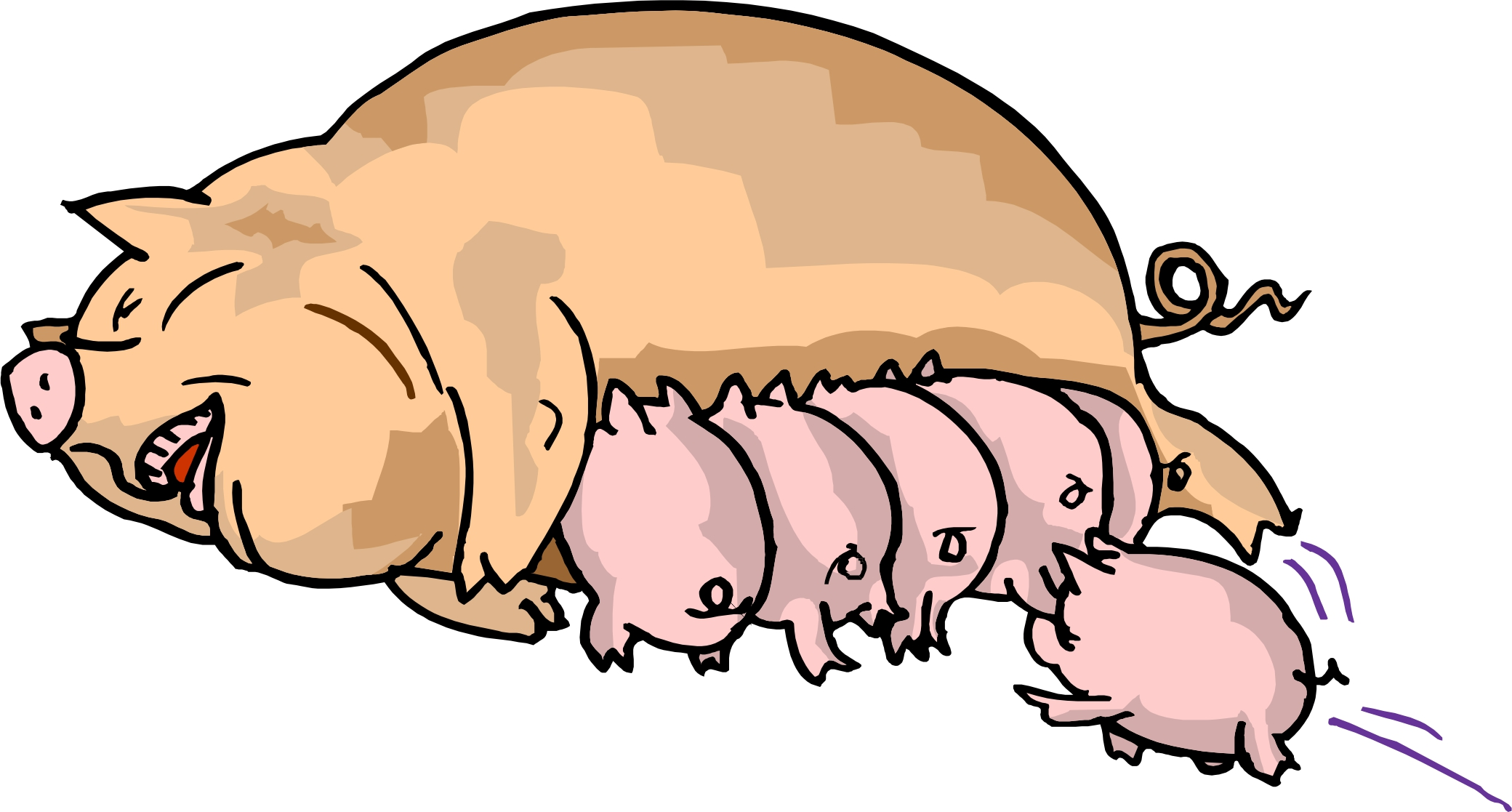 2080x1117 Mean Pig Cliparts