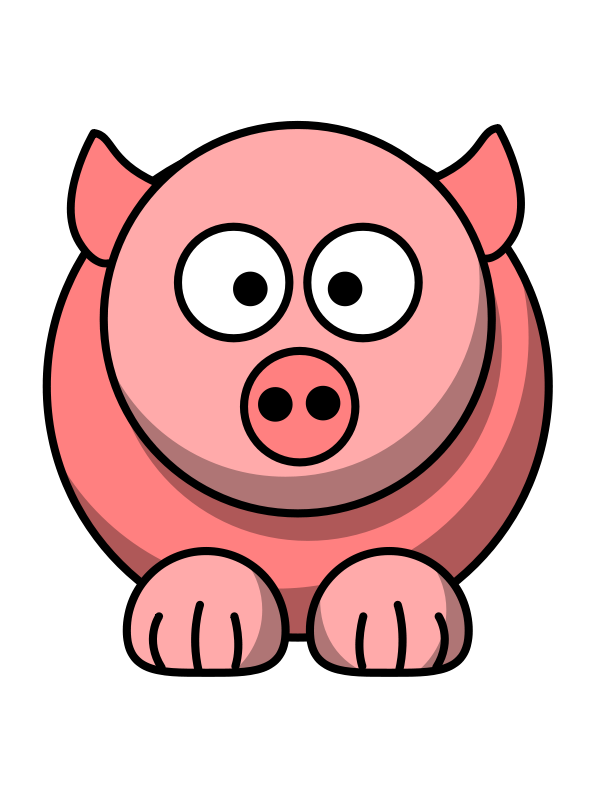 596x800 Pig Clipart Red
