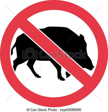 450x470 Wild Pigs Forbidden Eps Vectors