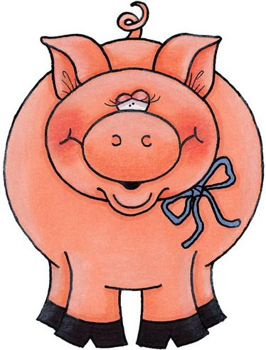 374x492 Best 167 Pig Clip Art Images On Pigs, Little Pigs