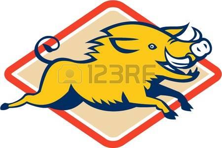 450x301 Razorback Pig Clipart
