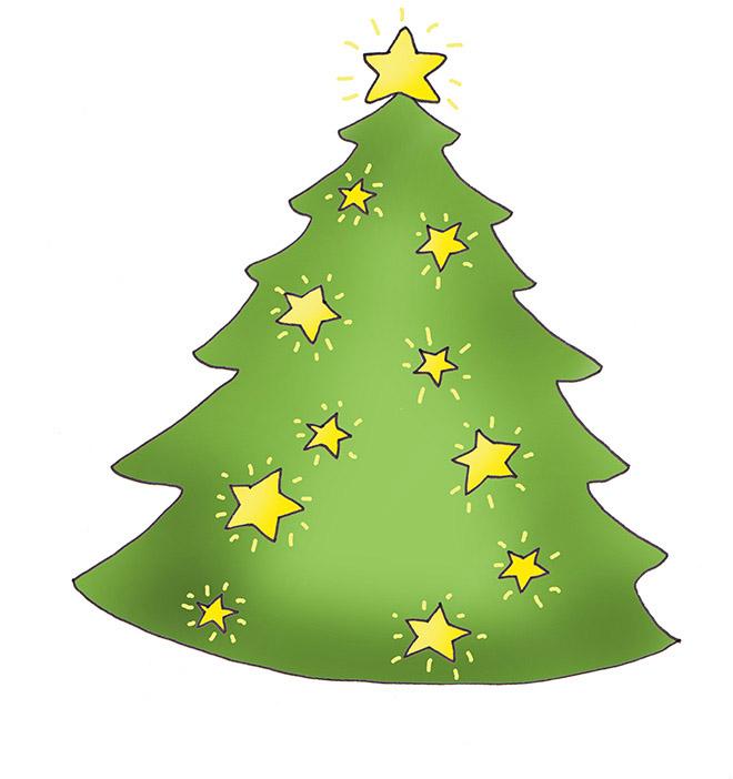 660x702 Christmas Tree Clip Art