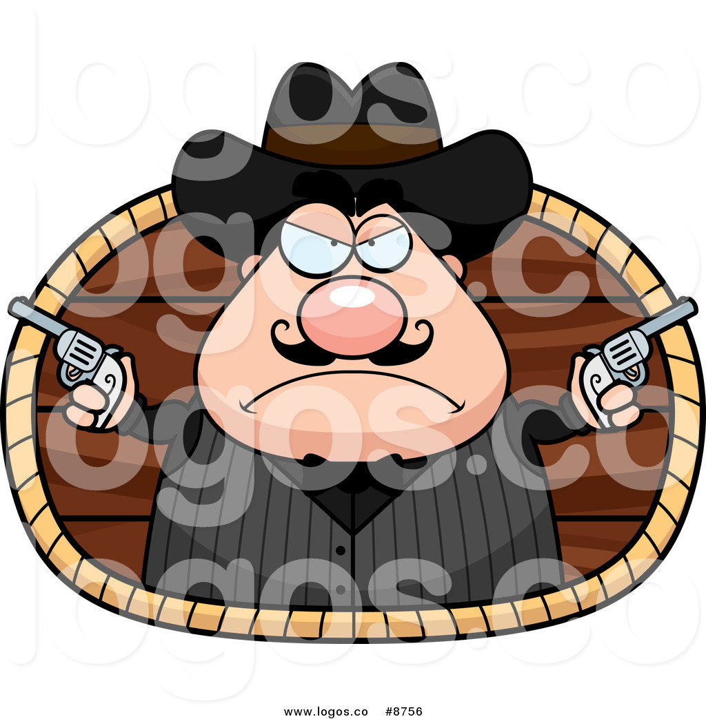 1024x1044 Royalty Free Clip Art Vector Chubby White Male Wild West Cowboy