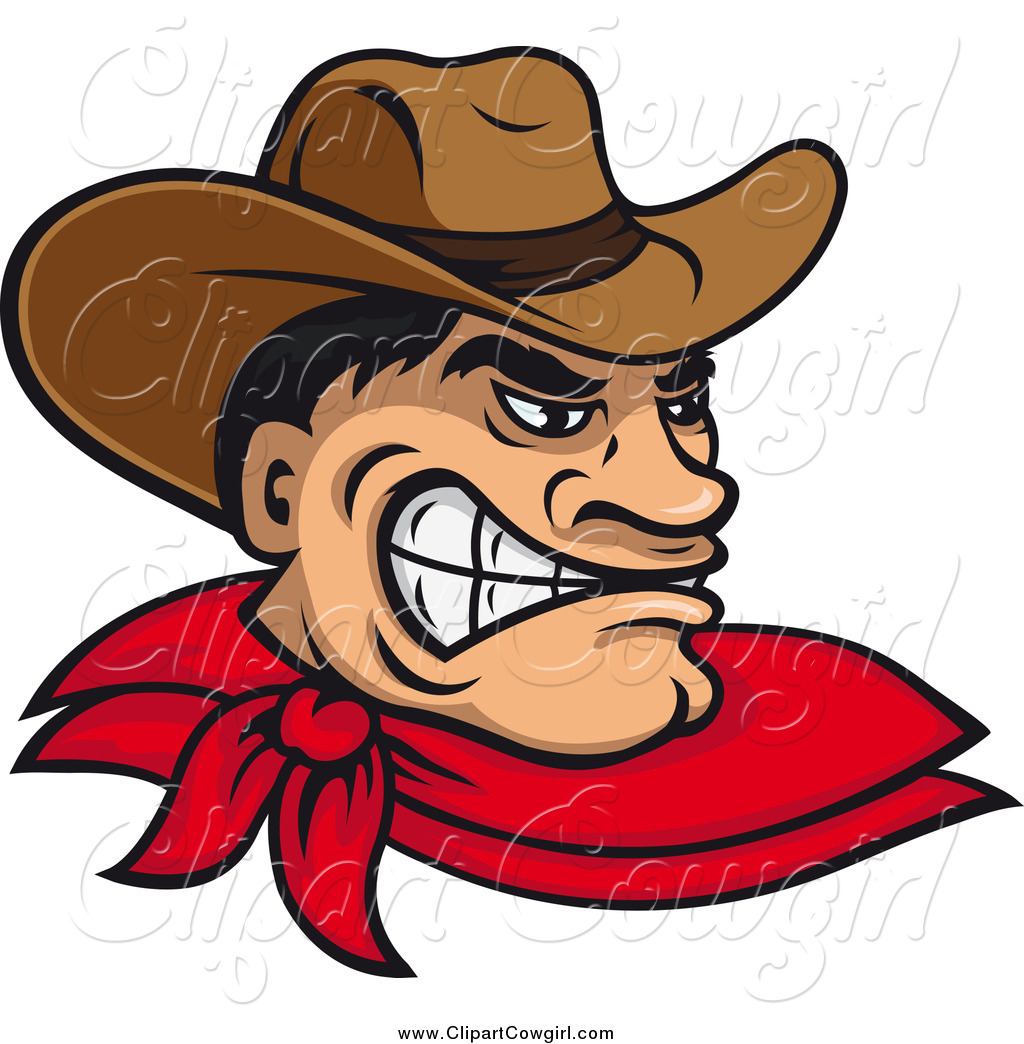 1024x1044 Clipart Of A Angry Tough Wild West Cowboy By Vector Tradition Sm