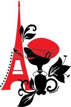 234x350 Paris Vintage Cat Silhouette In France Black And Red Vintage