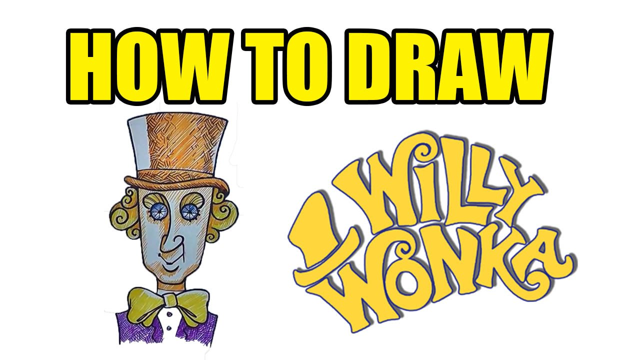 1280x720 How To Draw Willy Wonka Step By Step Drawing Lessons
