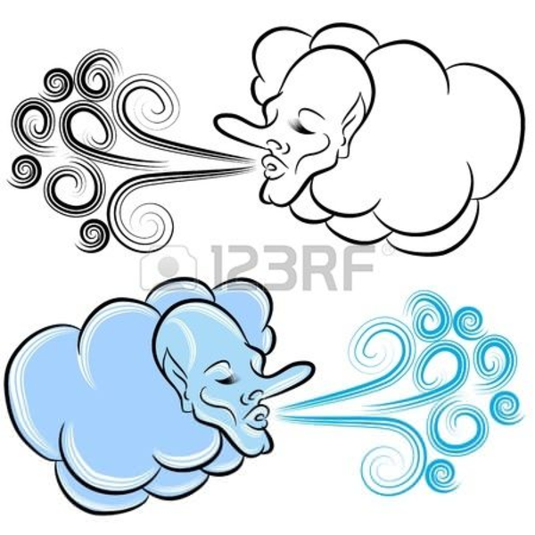 600x600 North Wind Blowing Clipart Free Images