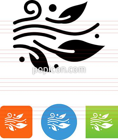 400x473 Wind Blowing Leaves Icon