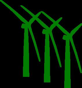 282x300 Green Wind Mills Clip Art