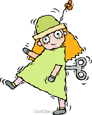 386x480 Doll, Wind Up Doll Royalty Free Vector Clip Art Illustration