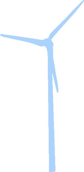 288x590 Light Blue Wind Turbine Clip Art