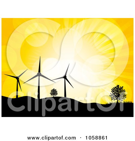 450x470 Royalty Free (Rf) Wind Power Clipart, Illustrations, Vector