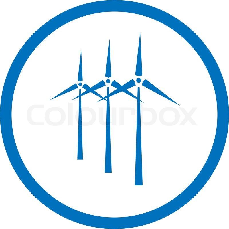 800x800 Vector Wind Turbine Icon Stock Vector Colourbox
