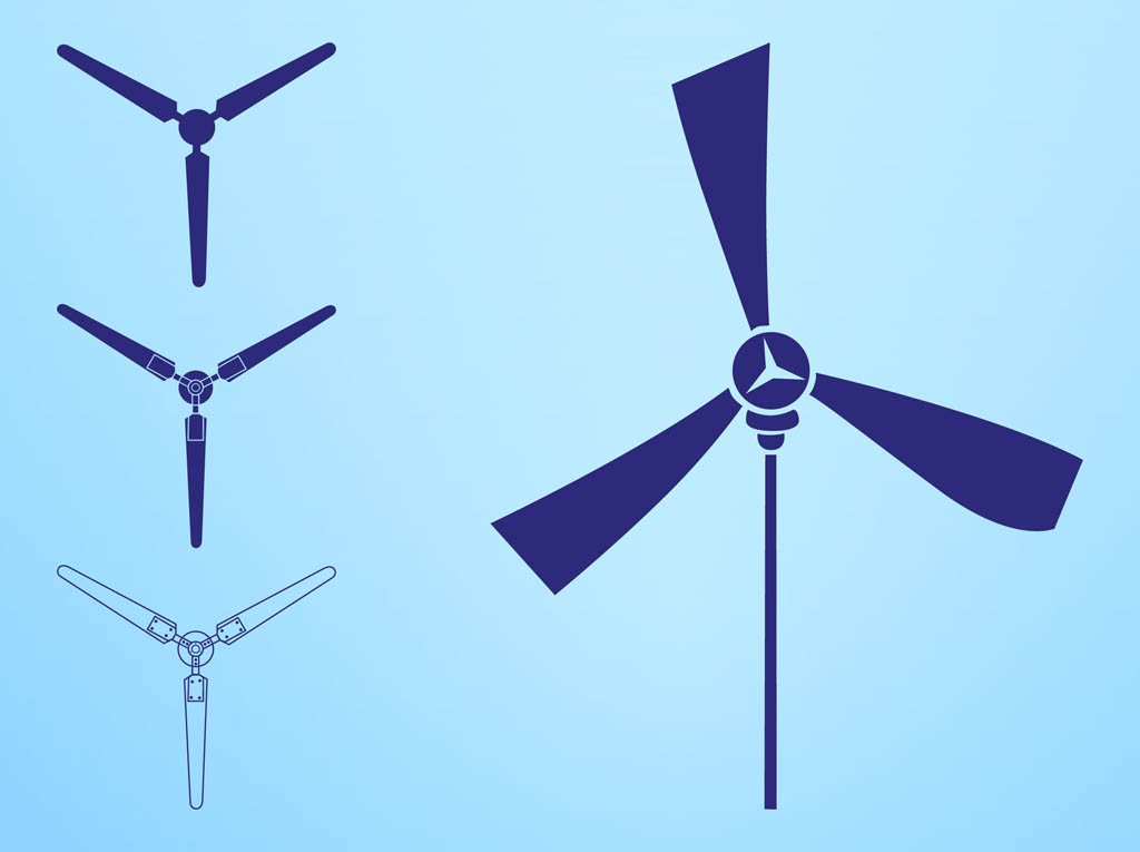 1024x765 Wind Turbines Silhouettes Elements Vector Art Amp Graphics