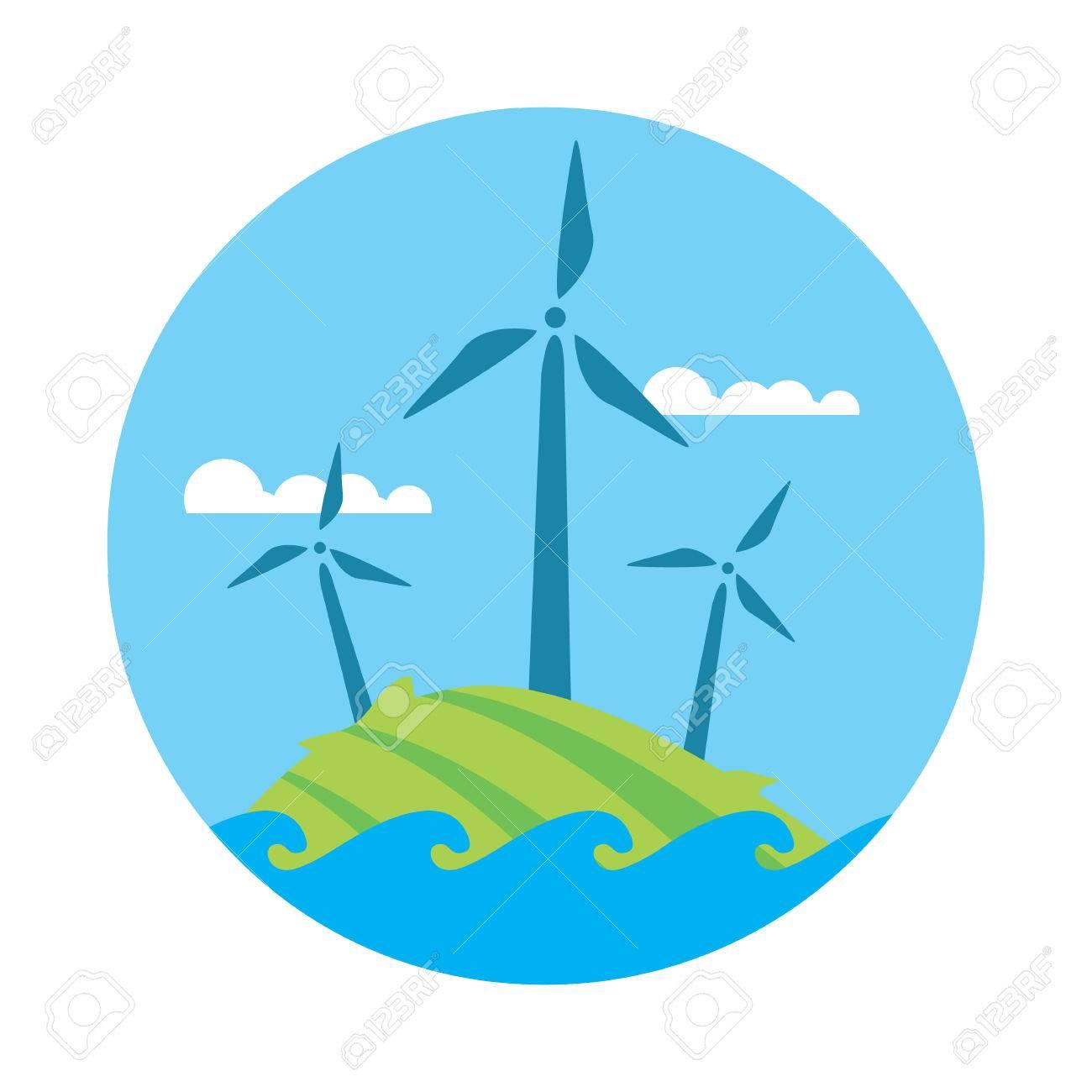 1300x1300 Wind Farm Wind Turbine Wind Power Renewable Energy Clip Art