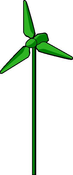 246x590 Energy Positive Wind Turbine Green Clip Art Free Vector 4vector