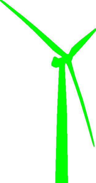 312x592 Wind Turbine Green Clip Art