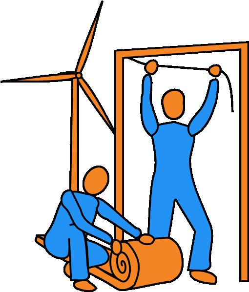 510x598 Wind Turbine Amp Insulation Clip Art