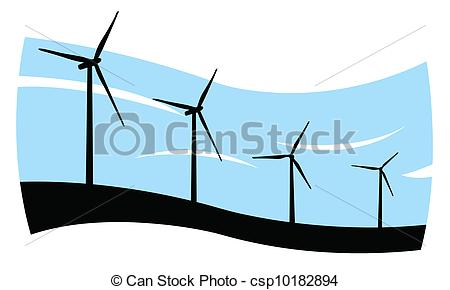 450x290 Wind Turbines Vector Clipart Illustrations. 8,253 Wind Turbines