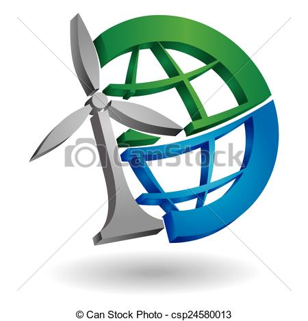 450x469 Renewable Energy Concept, Abstract Illustration With Planet