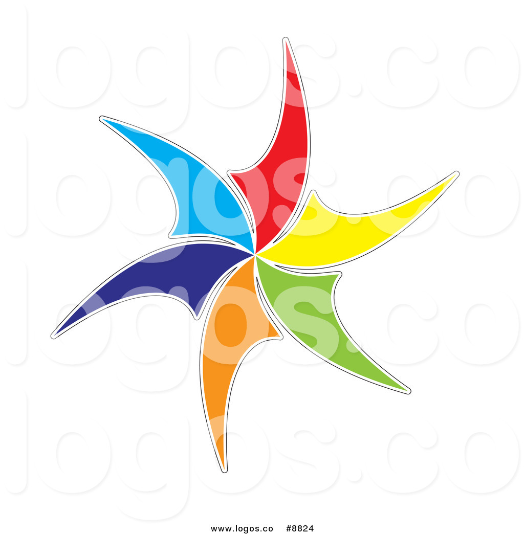 1024x1044 Royalty Free Clip Art Vector Colorful Windmill Logo By