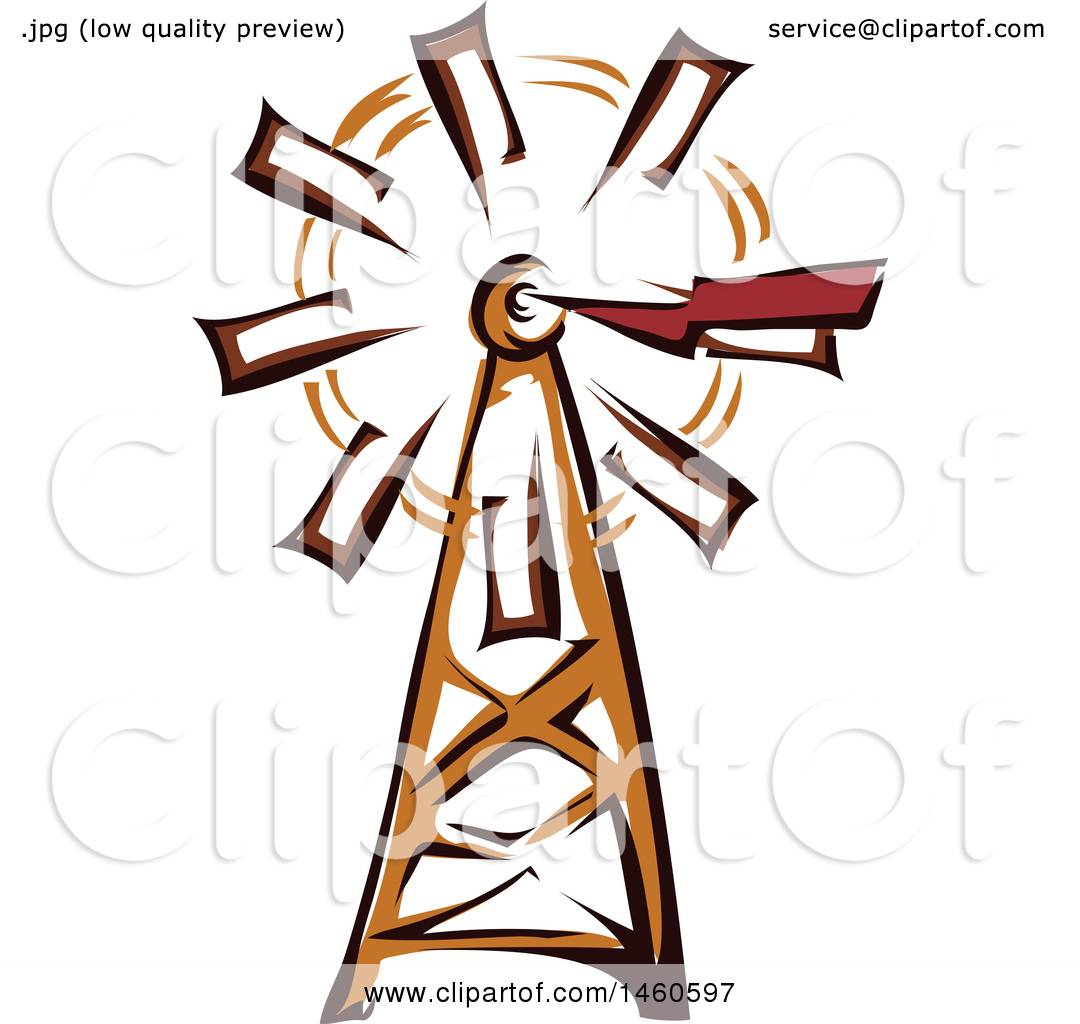 1080x1024 Clipart Of A Farm Windmill