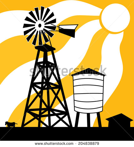 428x470 Windmill Clipart Outback