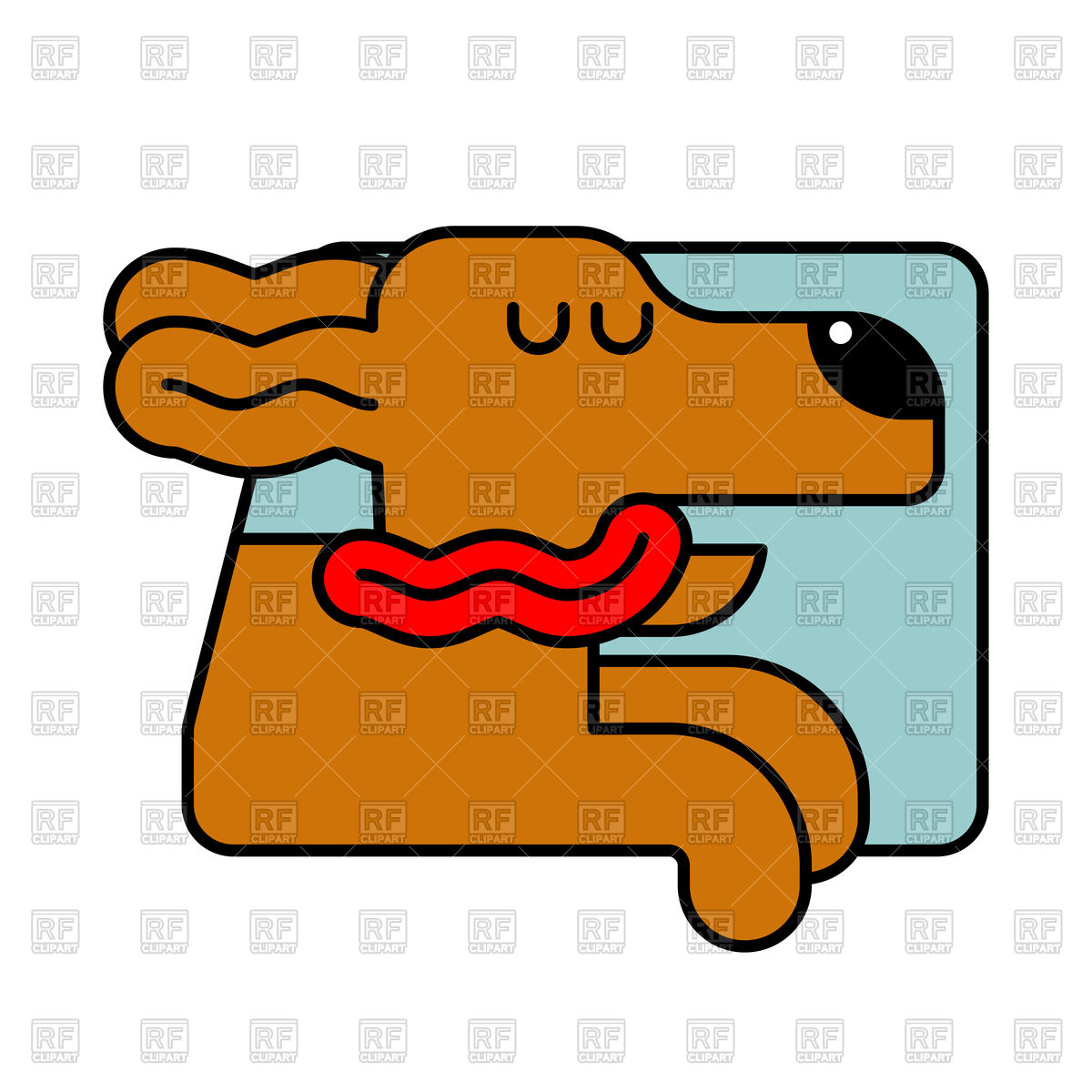 1200x1200 Dog In Car Window Royalty Free Vector Clip Art Image