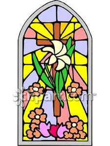 225x300 Stained Glass Church Window Clipart