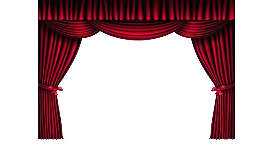 900x480 window with curtains clipart