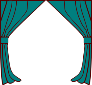 298x276 Curtains Clip Art