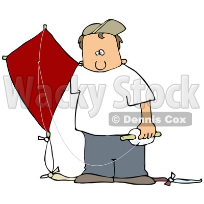 400x400 Clipart Illustration Of A White Boy In A Hat And Casual Clothes