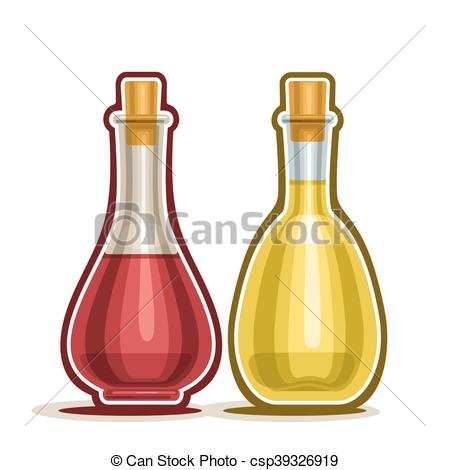 450x470 Decanter With Wine Vinegar. Vector Logo Decanter With Red