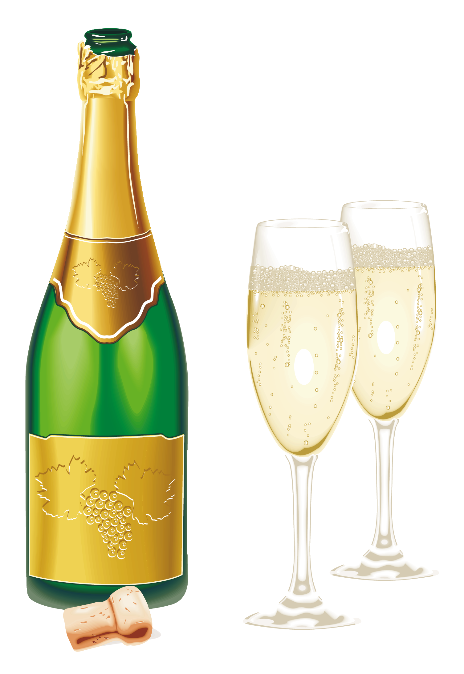 1506x2190 New Year Open Champagne With Glasses Png Picture