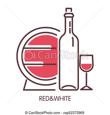 450x470 Red And White Wine Promotional Poster With Barrel And Clip Art