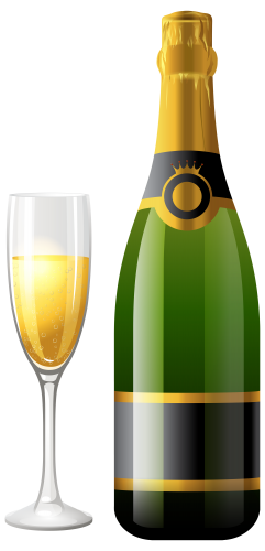 241x500 Botella De Champagne Con El Vidrio Png Clipart Clipart, Png