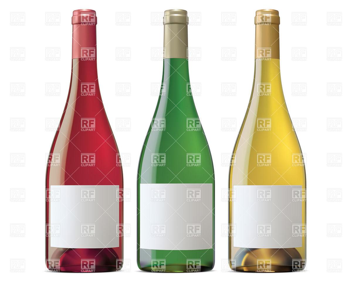 1200x960 Burgundy Wine Bottles Royalty Free Vector Clip Art Image