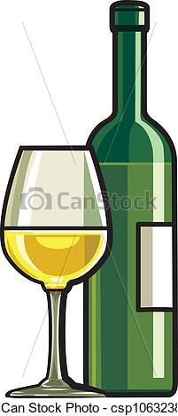 201x470 Dry White Wine Vector