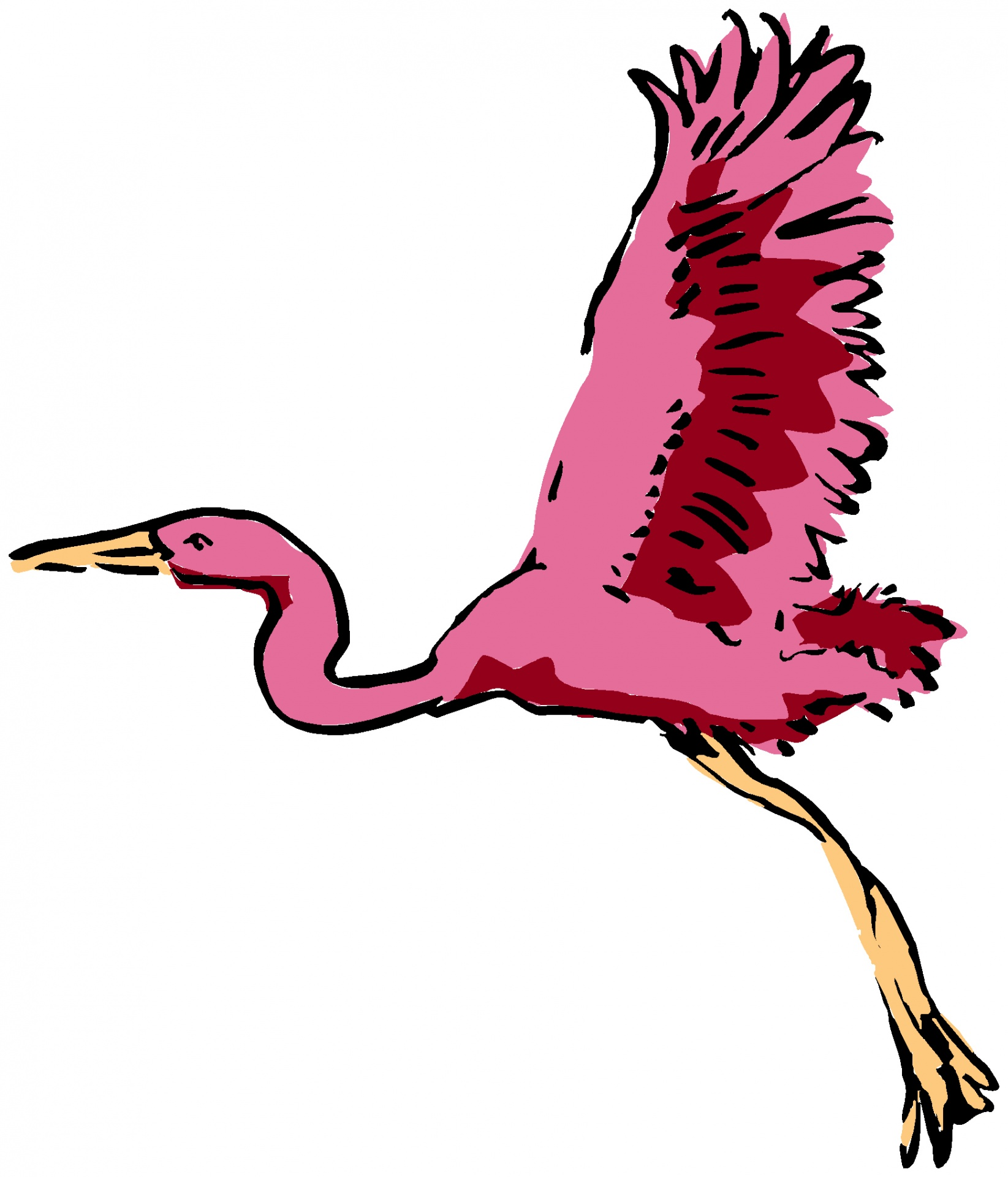 1645x1920 Flamingo Clipart Wings
