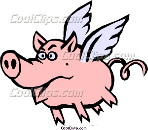 300x263 Wings Clipart Pig 4061025
