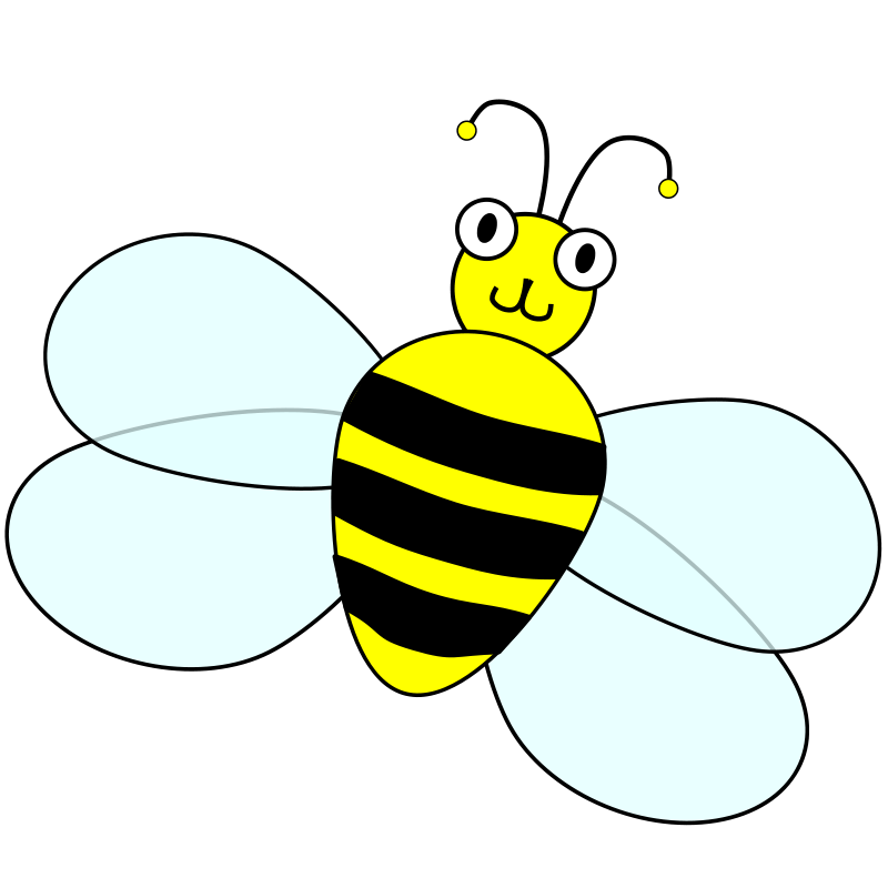 800x800 Bee Clipart Bee Wings