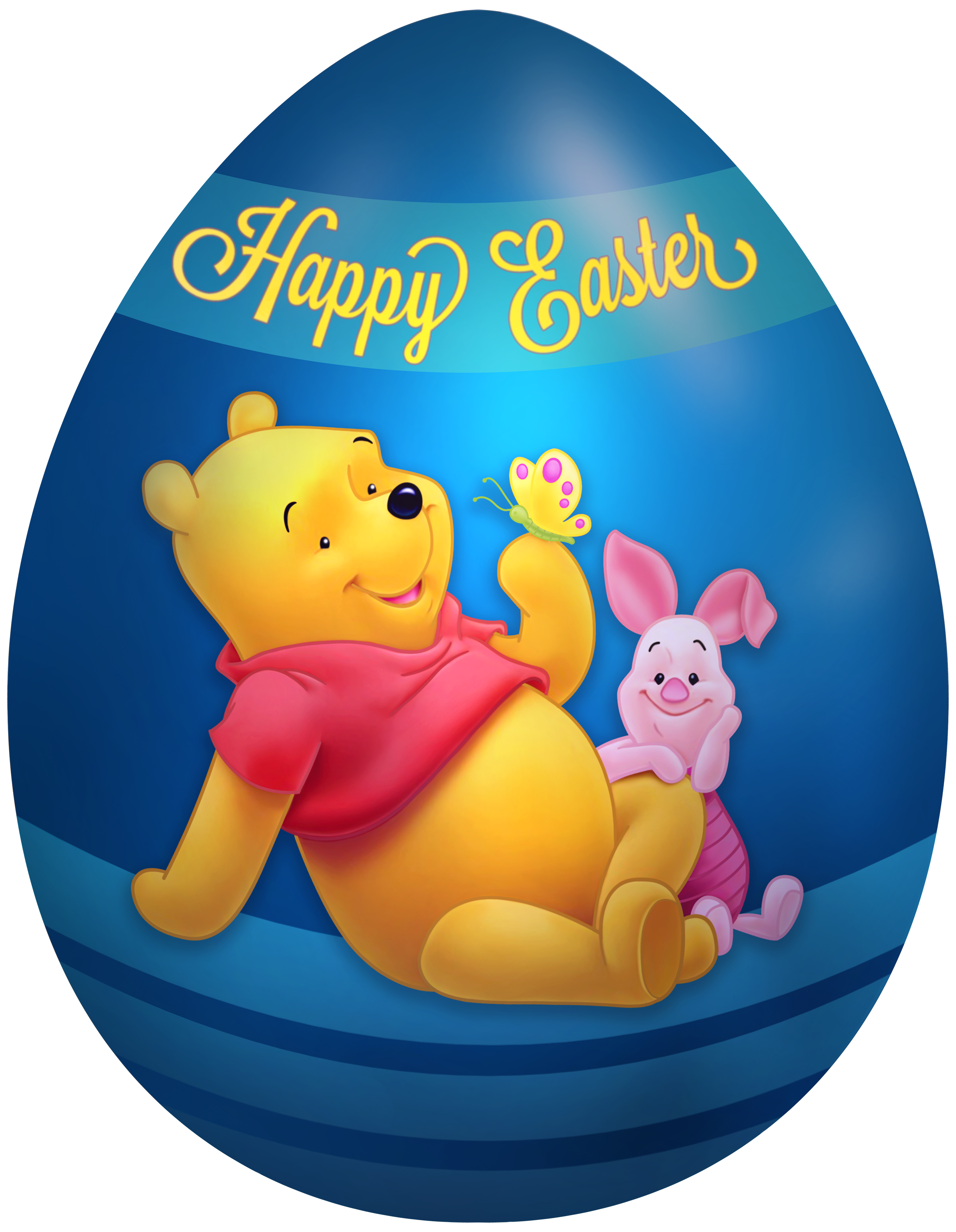 2715x3500 Kids Easter Egg Winnie The Pooh And Piglet Png Clip Art Image