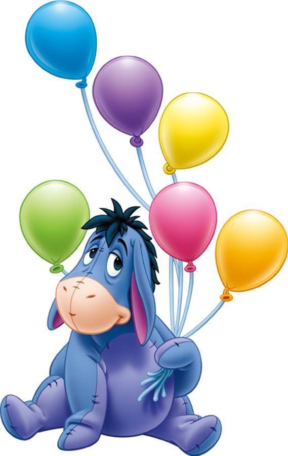 569x900 Eeyore And Balloons Disney Eeyore, Bears And Happy